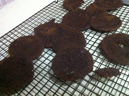 verbrande koekjes