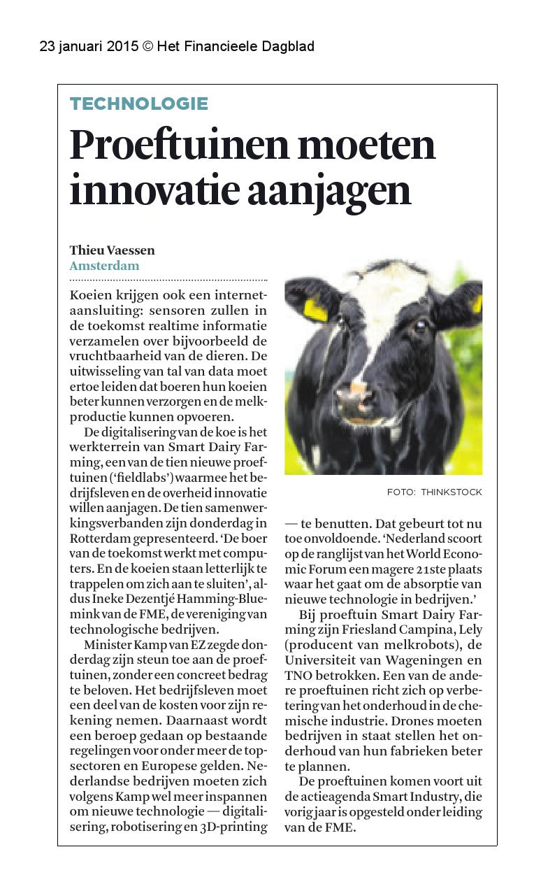 Fieldlabs, aanjagers innovatie FD-23 jan